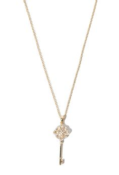 Longline Key Charm Necklace | Forever 21 - 1000097739