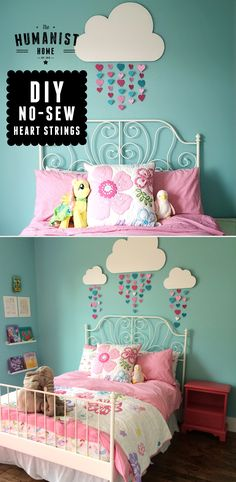 Pin for later! DIY hearts & raindrop garlands. Perfect for kids rooms, photography backdrops, or baby showers #diy #pinforlater #pinoftheday
