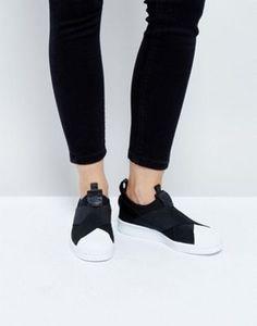 adidas Originals – Superstar – Schwarze Sneaker zum Hineinschlüpfen