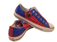 Hey, I found this really awesome Etsy listing at https://www.etsy.com/listing/188396822/spiderman-converse-custom-designed-shoes