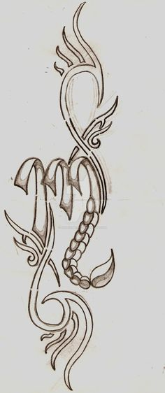 Scorpio Sign by JadeDaMaori on DeviantArt Scorpio Zodiac Tattoos, Scorpio Symbol, Taurus And Scorpio, Zodiac Signs Scorpio, Zodiac Art, Escorpion Tattoo, Alas Tattoo, M Tattoos, Body Art Tattoos