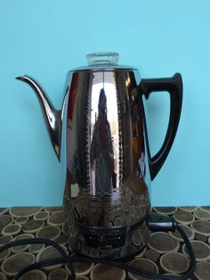 Universal 4408 Chrome Electric Percolator - Working Vintage Coffee Maker - Atomic Midcentury Modern Kitchen Small Appliances by 20thCKitchenAndTable on Etsy