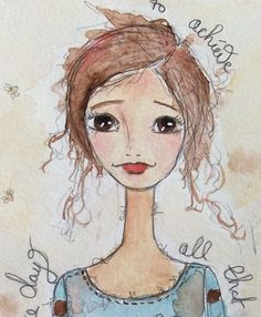 So happy to be back to share another doodle doodle doo from my Journal for Kim Dellow`s Art it Friday ~ Show your face if you l...