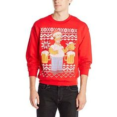 #Christmas Extra guidance The Simpsons Men's Simpsons Ugly Christmas Crew Neck Sweatshirt, Red, Large for Christmas Gifts Idea Shopping Online . Xmas is meant to get an exciting occasion, an occasion in which family members get together, an occasion associated with get-togethers, fun and also a good amount of sequins. Aside from the once-a-yea...