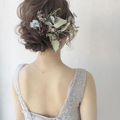 Bridal Hair Updo, Bridal Hair Flowers, Wedding Updo, Wedding Makeup, Bride Hairstyles, Pretty Hairstyles, Romantic Updo, Wedding Dress Chiffon, Hair Images
