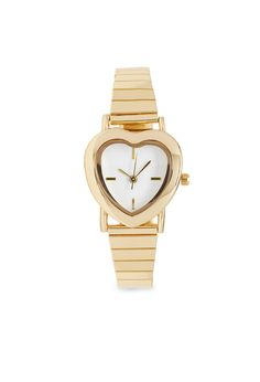 Heart-Shaped Analog Watch #Accessories