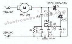 220V AC speed controller circuit controls the speed of small motors. The speed…