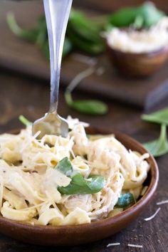 Crock Pot Creamy Chicken Pasta Recipe