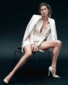 The New Looks for Spring – Doutzen Kroes wows in this white hot shoot featuring spring collections for the March issue of Harper's Bazaar US. Photographed by Daniel Jackson with styling by Alastair McKimm, Doutzen oozes casual elegance in the ivory and neutral hues of Céline, Louis Vuitton, Lanvin, Ralph Lauren and others.  See the behind the scenes video of the shoot on HarpersBazaar.com