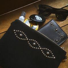 HTC Suede Clutch Bag Medium -D Umbrella-  #standardcalifornia #スタンダードカリフォルニア #htc #hollywoodtradingcompany #suede #clutchbag #wallet #byrdhair #oakley