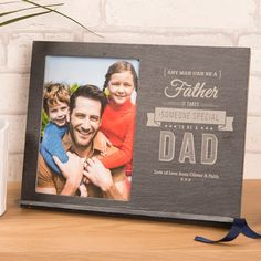This slate chalkboard can be personalised with a message. A thoughtful gift for a dad. Shop now!