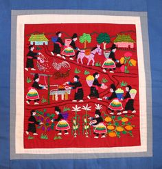 Hmong Embroidery: Farming Village Life