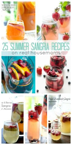 Fruit and wine are best friends and these 25 SUMMER SANGRIA RECIPES show off the rainbow of possiblities your cocktails can have!