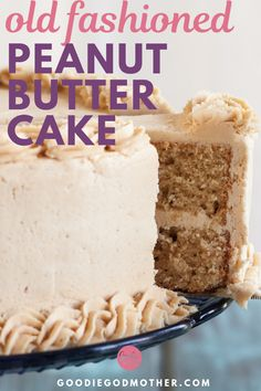 cake recipes My old fashioned peanut butter cake recipe is a classic cake perfect for peanut butter lovers. Peanut butter is baked right into the batter and whipped into the frosting! This homemade cake recipe is amazing for desserts. Homemade Cake Recipes, Best Cake Recipes, Easy Homemade Cake, Layer Cake Recipes, Cake Recipes From Scratch, Old Fashioned Peanut Butter Cake Recipe, Peanutbutter Cake Recipe, Desserts Keto, Peanut Butter Frosting