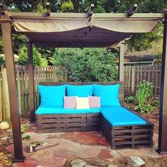 30 Ιδέες για να φτιάξετε τo δικό σας σαλόνι κήπου απο παλέτες!   Φτιάξτο μόνος σου - Κατασκευές DIY - Do it yourself