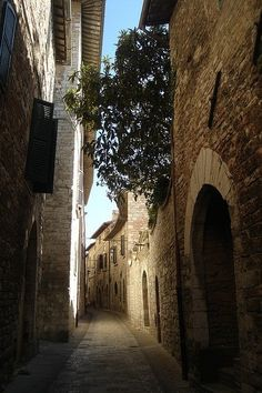 Assisi's streets, Italy