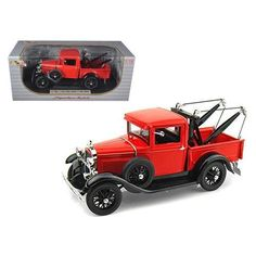 1931 Ford Model A Tow Truck Red 1/18 Diecast Model Car by Signature Models