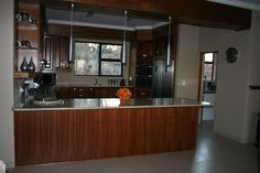 Kitchen thru to scullery and pantry, solid kiaat wood and granite tops. AEG gas stove and electric oven Barbeque Pizza, Solid Wood Kitchens, Granite Tops, Electric Oven, Gas Stove, Wood Bars, Kitchenette, Pantry, Kitchen Cabinets