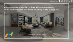 Clients can Sense and Fall in Love with the Atmosphere of the location before they Arrive with help of #360 Virtual Tour. To know more please visit our website   nipra3dstudio,#3dinterior,#3dexterior,#3dvisulisation,#3dwalkthrough,#3darchitectural,#likeme,#followme,#3drendering,#3ddesign,#virtualreality,#augmentedreality.