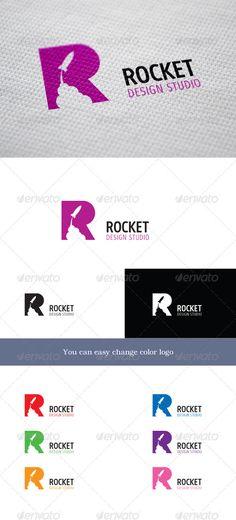 Rocket Design Studio - clever logo