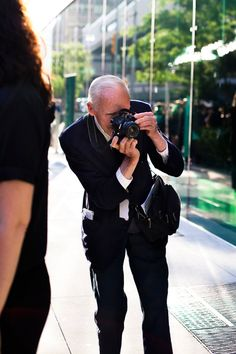 """The oh so cool Bill Cunningham. After seeing the documentary """"Bill Cunningham New York"""" I have such respect."""