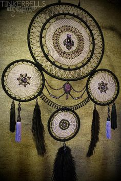 Dreamcatcher Dream catcher large lavish gift black purple
