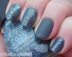Sephora by OPI Break A Leg-Warmer base with Sinful Colors Ice Dream layered over (and mattified ring finger)
