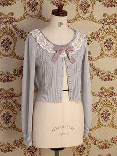 Mary Magdalene » Cutsew & Knit » Lace Macaron Cardigan.