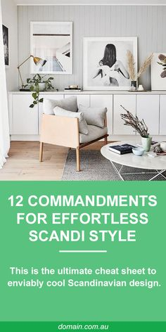 Whether you're interested in redecorating your home or just making a few seasonal updates, there are a number of lessons to learn from Scandinavian design. Consider these design commandments your cheat sheet to enviably cool Scandinavian design. Living Tv, Home Living Room, Living Room Furniture, Living Room Designs, Living Room Decor, Living Dining Rooms, Scandi Living Room, Kitchen Furniture, Scandinavian Interior Design