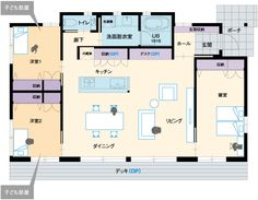 プラン/間取り | 平屋の家 casa basso | マキハウスの商品住宅 | 家を建てる | マキハウス