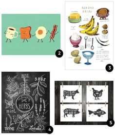 9 Graphic Prints for the Kitchen