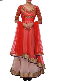 Red-Light Purple Anarkali Dress Indian Fashion Suit Plus Size Available PS-2117 #EthnicDresses #SalwarKameez