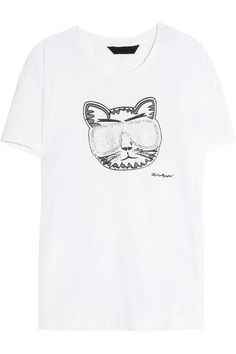{Karl Lagerfeld Choupette Tee} - sunglasses embellished with glitter and miniature mirrors - love!