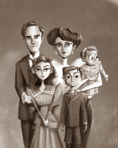 A Portrait of the Baudelaires from Jayme Twins Art Les Orphelins Baudelaire, Beatrice Baudelaire, Lemony Snicket, Up In Smoke, Cinema, Netflix Series, Book Series, Drawing S, Good Books
