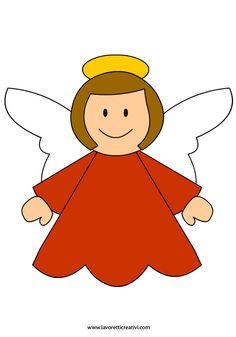 Natale   Sagome angelo in natale