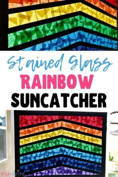 Stained Glass Rainbow Suncatcher: Color Activity
