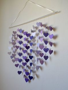 Lilac Dreams - Modern Nursery Mobile for Girls / Purple Heart Mobile/ Baby Shower / Nursery Decor / Playroom