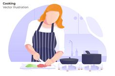 Cooking - Vector Illustration by AQR Studio on @creativemarket