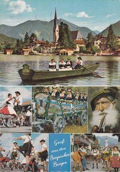 Vintage Costume Postcards  Bavaria  Germany #Miesbach