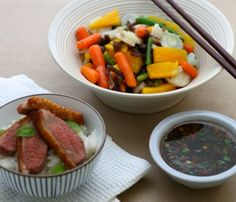 Spicy Duck with Chinese Vegetables & Coconut Jasmine Rice recipe Coconut Jasmine Rice, Jasmine Rice Recipes, Fried Drumsticks, Chicken Drumsticks, Chinese Vegetables, Mixed Vegetables, Vegetable Dishes, Vegetable Recipes, Chinese Chicken Wings