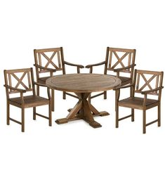 Our Claremont Eucalyptus Round Dining Table and Chairs elevates your outdoor entertaining space. Our round dining table and chairs are made of FSC… Large Round Table, Round Table And Chairs, Dining Table Chairs, Round Dining Table, Table Seating, Patio Dining, Console Table, Outdoor Dining Furniture, Outdoor Chairs