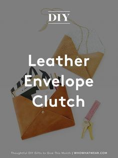 This leather envelope clutch is both chic and functional—a match made in heaven!