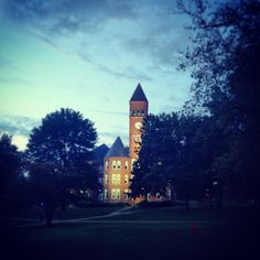 Slippery Rock University Old Main. Beautiful picture of SRU's campus!! I miss my college days!!
