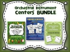 Orchestra Instrument Center Activities BUNDLE - This product is a BUNDLE of these 3 individual products: 1.Orchestral Instruments-Vocabulary Sorting Centers 2.Orchestra & Orff Instrument-Trace & Write Pages 3.Orchestra Instrument Puzzles