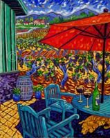 """: Guarding the Wine, 24"""" x 30"""", Oil - SOLD by Cathy Carey ©2014"""