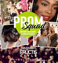 I just entered for a chance to win a dream prom for 4, complete with dresses, professional hairstyling and makeup, and a limo for the big night! Plus, when you enter you get a chance daily to instantly win products from Garnier Fructis Style, Maybelline New York and Lulus. Enter now, ends soon!