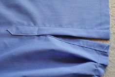 Sewing shirt sleeve placket tutorial