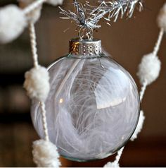 Christmas Feather Ornament