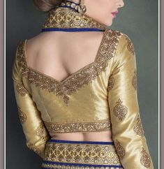 special blouse back neck design with work patterns for bridal sarees, bridal blouse Saree Jacket Designs, Saree Blouse Neck Designs, Sari Blouse Designs, Choli Designs, Fancy Blouse Designs, Blouse Patterns, Neck Designs For Suits, Sleeves Designs For Dresses, Stylish Blouse Design