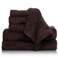 Concierge Collection 100% Turkish Cotton 6-piece Towel Set - Brown